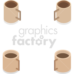isometric coffee cup vector icon clipart 2 clipart. Commercial use image # 413969