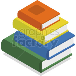 isometric books vector icon clipart 7 clipart. Royalty-free image # 413975