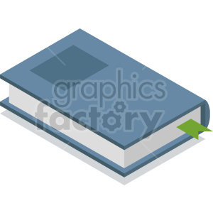 isometric blue book vector icon clipart 2 clipart. Commercial use image # 413976