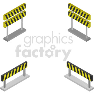 isometric road barricade vector icon clipart clipart. Commercial use image # 414035