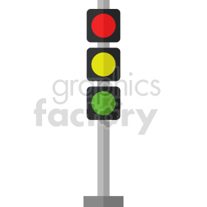isometric traffic light vector icon clipart 7