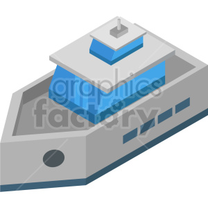 isometric ship vector icon clipart clipart. Commercial use image # 414044