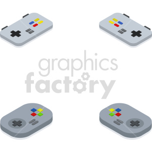 isometric game pad vector icon clipart 2 clipart. Commercial use image # 414100