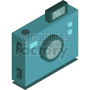 isometric camera vector icon clipart 1 clipart. Commercial use image # 414116