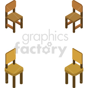 isometric chairs vector icon clipart 5 clipart. Commercial use image # 414176