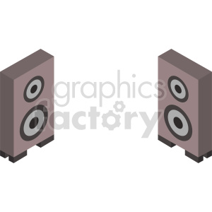 isometric speakers vector icon clipart set clipart. Commercial use image # 414179