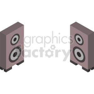 furniture isometric speakers