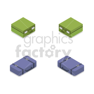 isometric travel bag vector icon clipart 2 clipart. Commercial use image # 414239
