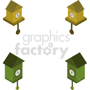 isometric cuckoo clock vector icon clipart 1 clipart. Commercial use image # 414240