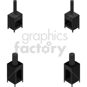 isometric wood burning stove vector icon clipart 1 clipart. Commercial use image # 414255
