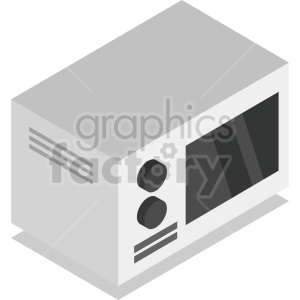 isometric microwave oven vector icon clipart 3 clipart. Commercial use image # 414279