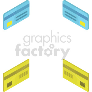 isometric credit card vector icon clipart 6 clipart. Commercial use image # 414370