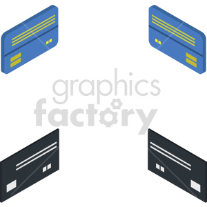 isometric credit card vector icon clipart 7 clipart. Commercial use image # 414383
