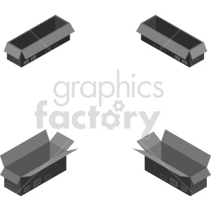 isometric black box vector icon clipart 2 clipart. Commercial use image # 414396