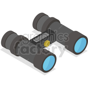 isometric binocular vector icon clipart 6 clipart. Commercial use image # 414423