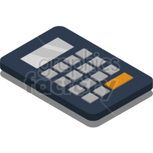 isometric calculator vector icon clipart clipart. Commercial use image # 414444
