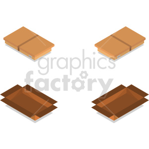 isometric boxes vector icon clipart bundle clipart. Commercial use image # 414453