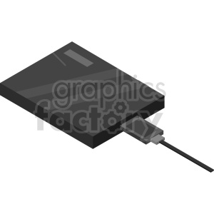 isometric hard disk vector icon clipart clipart. Commercial use image # 414534