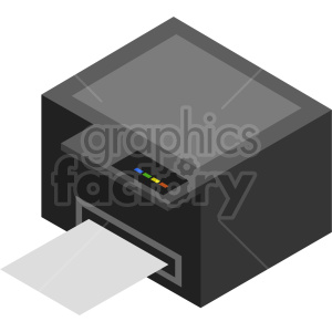 isometric printer vector icon clipart 3 clipart. Commercial use image # 414537