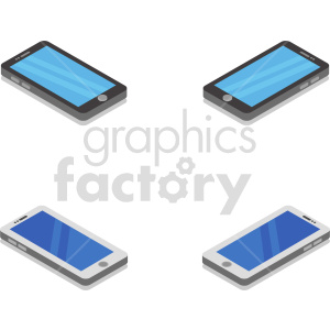 isometric smart phone vector icon clipart 15 clipart. Commercial use image # 414563