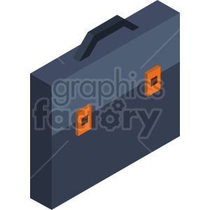 isometric briefcase vector icon clipart 2 clipart. Commercial use image # 414587