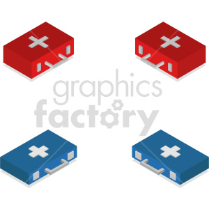 isometric medical bag vector icon clipart 4 clipart. Commercial use image # 414616