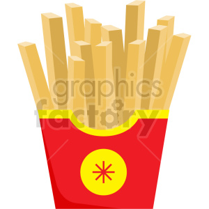cartoon french fries vector clipart clipart. Commercial use image # 414793
