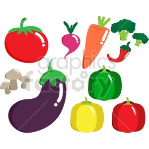 veggies bundle vector clipart clipart. Commercial use image # 414798