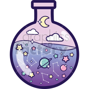 bottle galaxy vector clipart clipart. Commercial use image # 414859