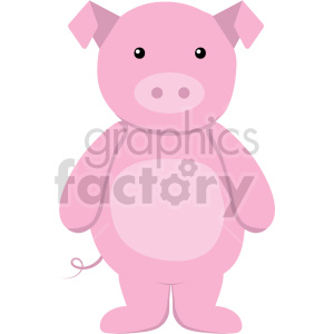 cartoon pig vector clipart clipart. Commercial use image # 414886