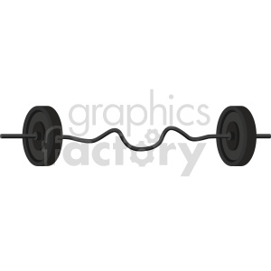 curl barbell with weights vector graphic clipart. Commercial use image # 414904