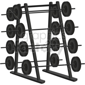 barbell weight rack vector graphic clipart. Commercial use image # 414911