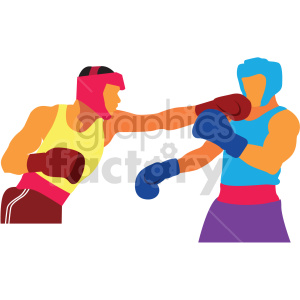 Olympic boxing vector design clipart. Commercial use image # 414923