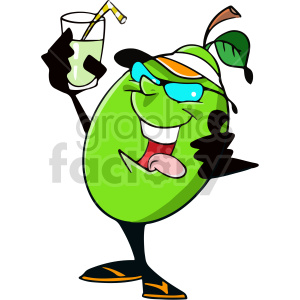 fruit having a drink vector clipart clipart. Commercial use image # 414979