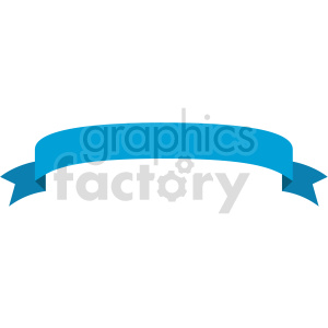 blue curved ribbon design vector clipart clipart. Commercial use image # 414987