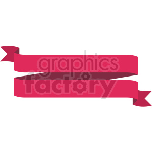 clipart - double pink ribbon design vector clipart.