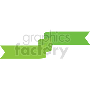 green ribbon design vector clipart clipart. Commercial use image # 415000