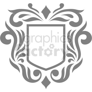 shield frame design vector clipart clipart. Commercial use image # 415060