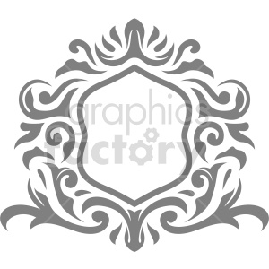 gray fancy frame vector clipart clipart. Commercial use image # 415066