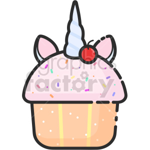 unicorn cupcake clipart clipart. Commercial use image # 415092