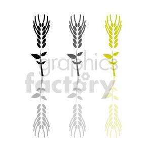 wheat grain vector design clipart. Commercial use image # 415201