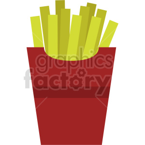 french fries vector clipart clipart. Commercial use image # 415211