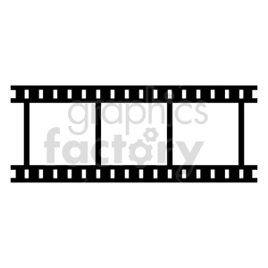 film strip vector clipart clipart. Commercial use image # 415222