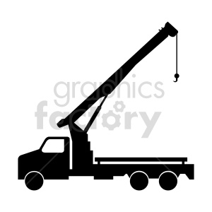 clipart - crane truck silhouete clipart.