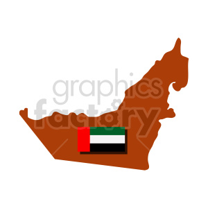 United Arab Emirates flag vector clipart 04 clipart. Commercial use image # 415325