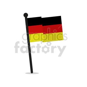 clipart - German flag vector clipart icon 01.