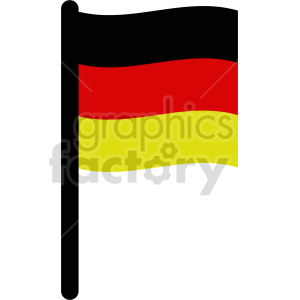 clipart - flag of Germany vector clipart icon 04.