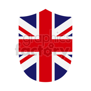 Great Britain flag shield vector clipart 02 clipart. Commercial use image # 415402
