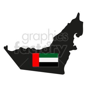 United Arab Emirates flag vector clipart 01