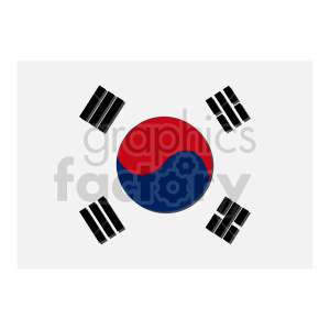 Flag of South Korea vector clipart 2 clipart. Commercial use image # 415436